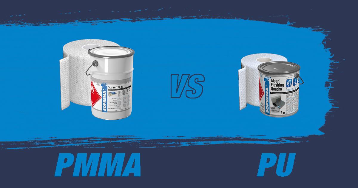 Vloeibare waterdichting met ALSAN PMMA of PU: wat is het verschil?