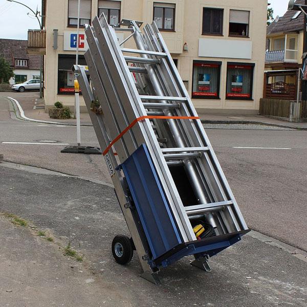 Geda Comfort 250 ladderlift opgevouwen