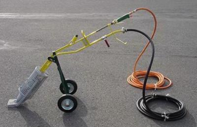 hete-lucht-lans-brander-Hotdog-Vlutters-wegenonderhoud